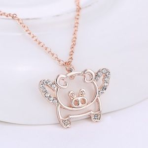Jewelry - Flying Pig When Pigs Fly Necklace B14